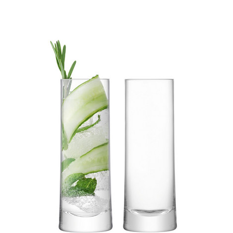 Set of 2 Gin Highball Glasses 380ml, ${color}
