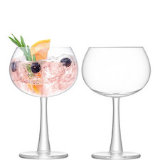 Set of 2 Gin Balloon Glasses 420ml