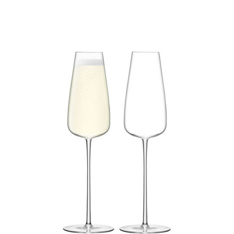 Set of 2 Wine Culture Champagne Flutes, ${color}