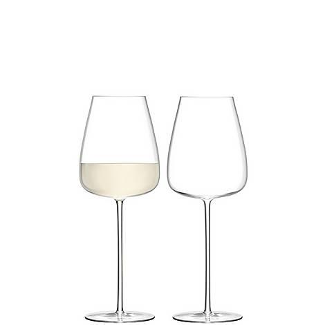 Set of 2 Wine Culture White Glasses, ${color}