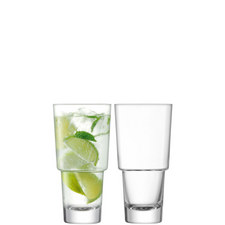Set of Two Mixologist Highball Glasses