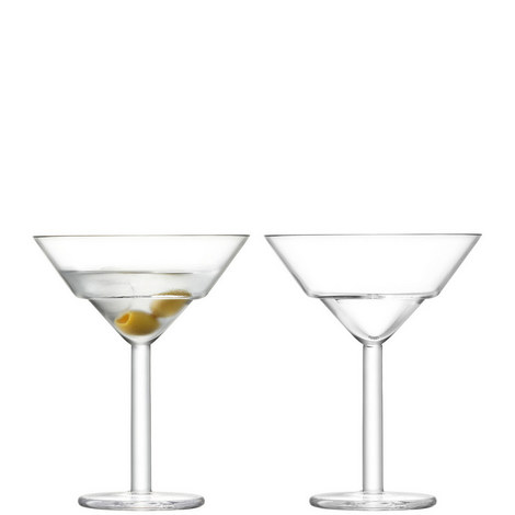 Set of Two Mixologist Martini Glasses, ${color}