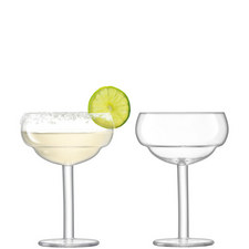 Set of Two Mixologist Coupe Glasses
