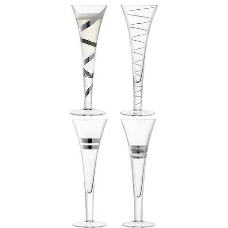 Gatsby Champagne Flutes Set Of Four, ${color}