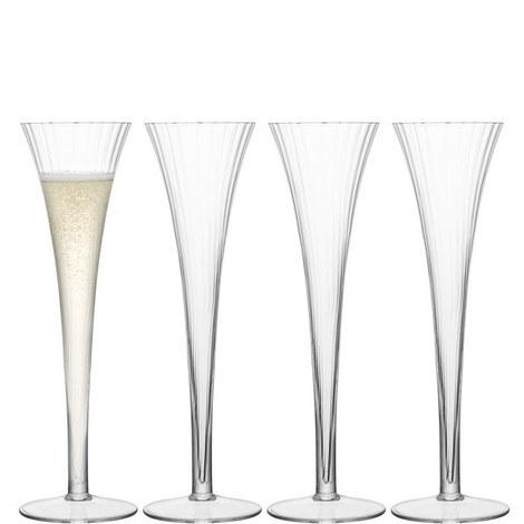 Aurelia Champagne Flutes Set Of Four, ${color}