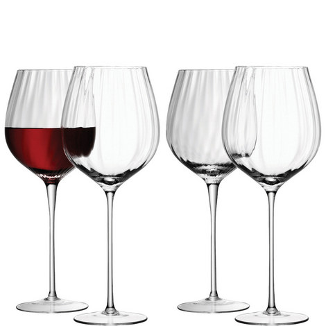 Aurelia Red Wine Glasses Set Of Four, ${color}