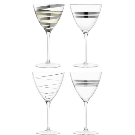 Gatsby Assorted Wine Glasses Set Of Four, ${color}