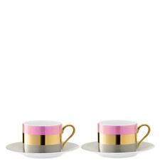 Bangle Teacup and Saucer Set of 2