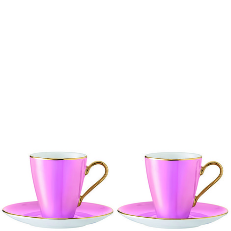 Set of Two Sorbet Cup & Saucer, ${color}