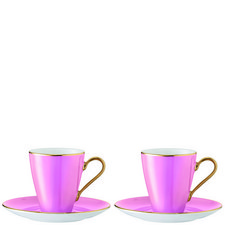 Set of Two Sorbet Cup & Saucer