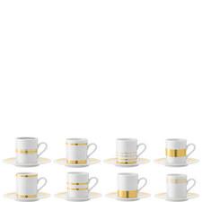 Deco Espresso Cups And Saucers Set of 8