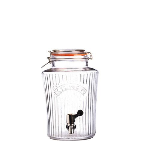 Clip Top Glass Drinks Dispenser 5L, ${color}