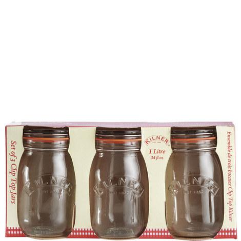 Clip Top Jars 3 piece, ${color}