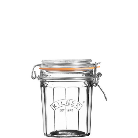 Facetted Clip Top Jar 0.45L, ${color}