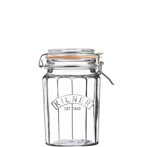 Facetted Clip Top Jar 0.95L, ${color}