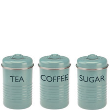 Set of 3 Vintage Kitchen Storage Tins