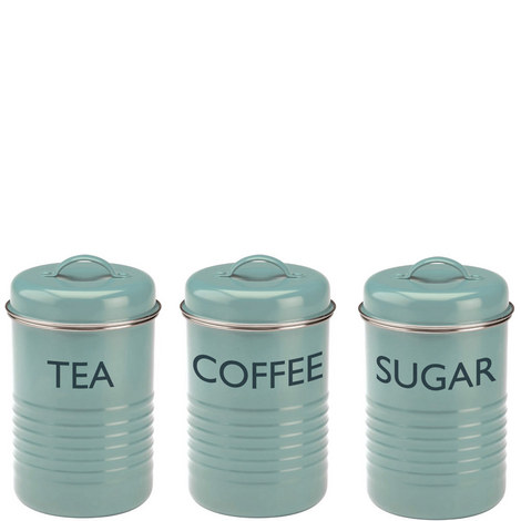 Set of 3 Vintage Kitchen Storage Tins, ${color}