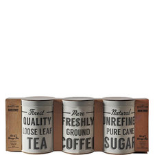 Baker Street Tea, Coffee and Sugar Tins