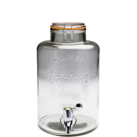 Clip Top Glass Drinks Dispenser 8L, ${color}