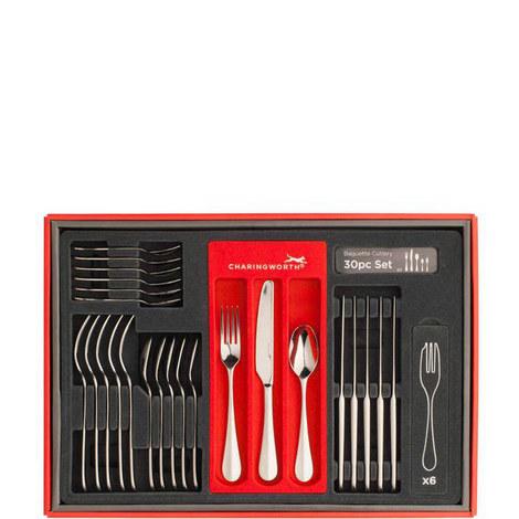 Baguette Mirror Cutlery Set 30 pieces, ${color}