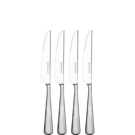 Mahogany Satin Steak Knives Set 4 piece, ${color}