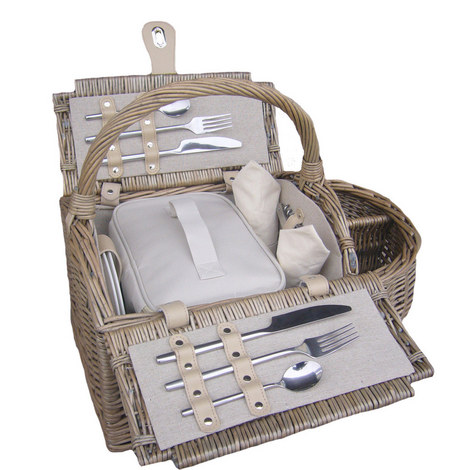 2 Person Boat Hamper Basket, ${color}