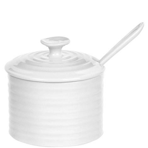 Ceramic Condiment Pot & Spoon, ${color}