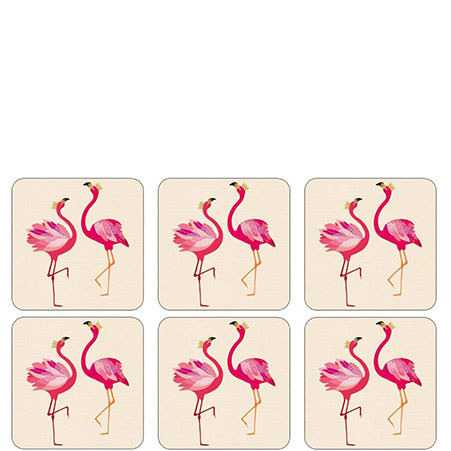 Piccadilly Flamingo Coasters x 6, ${color}