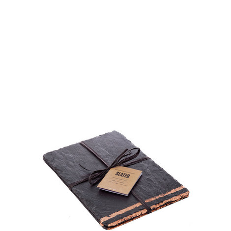 Set of 2 Copper Leaf Slate Placemats, ${color}