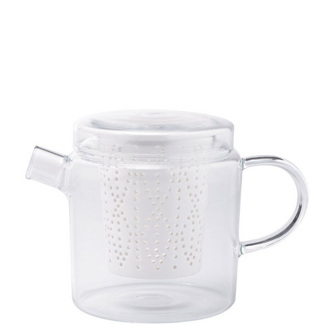 Glass Teapot with Porcelain Infuser 700ml, ${color}