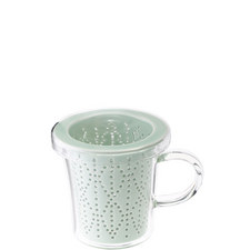Glass Mug with Porcelain Infuser 300ml