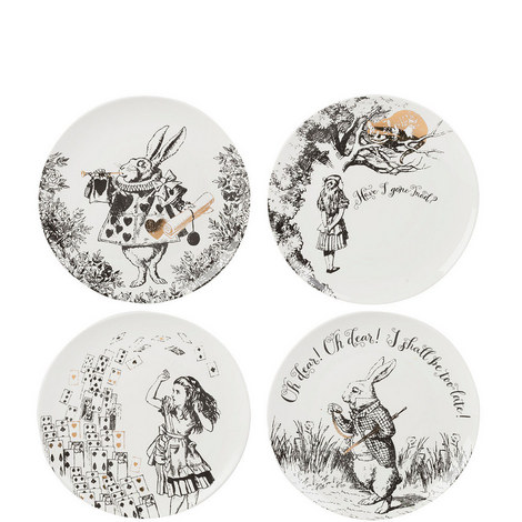 Alice in Wonderland Sideplates x4, ${color}