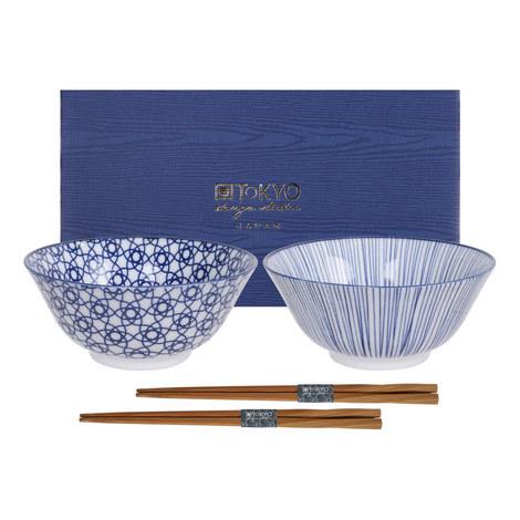Nippon Tayo Bowl and Chopsticks Set, ${color}