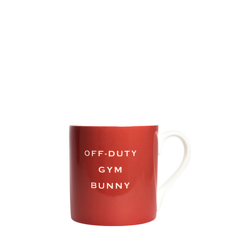 Off Duty Gym Bunny Mug, ${color}