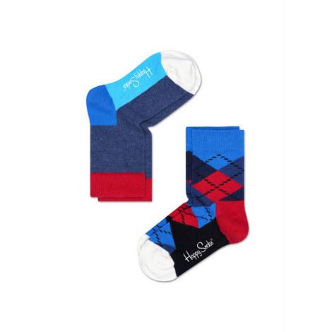 2 Pack Patterned Socks, ${color}