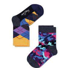 2 Pack Patterned Socks Baby