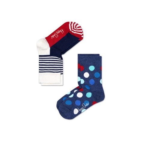 2 Pack Patterned Socks Baby, ${color}