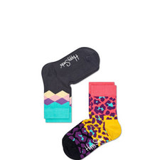 Harlequin Animal Print Socks