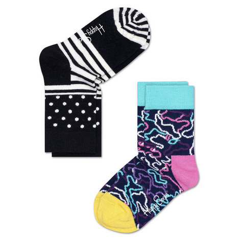 2 Pack Patterned Socks Baby, ${color}