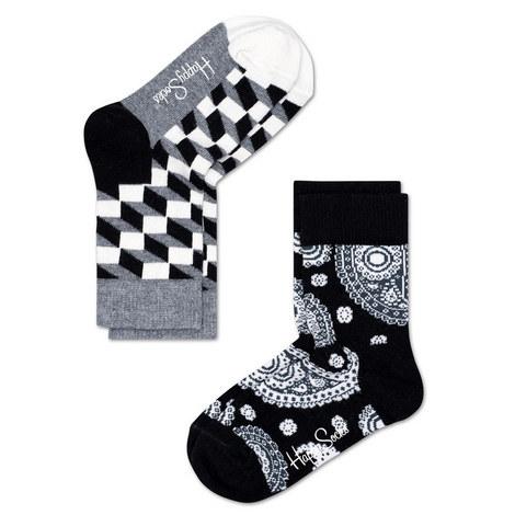 2-Pack Patterned Socks Baby, ${color}