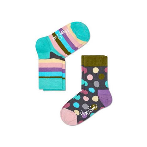 Stripe Dotty Socks, ${color}