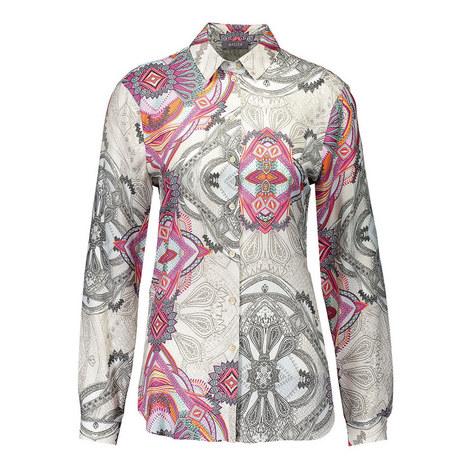 Abstract Print Shirt, ${color}