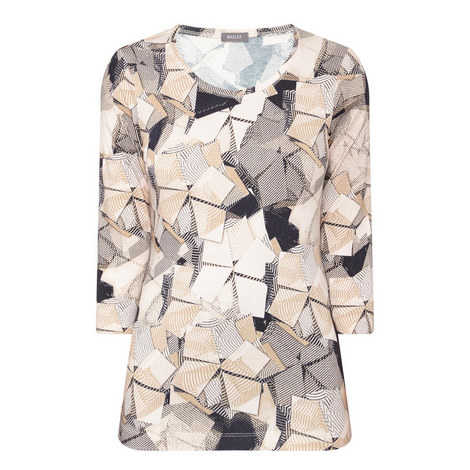 Geometric Print T-Shirt, ${color}
