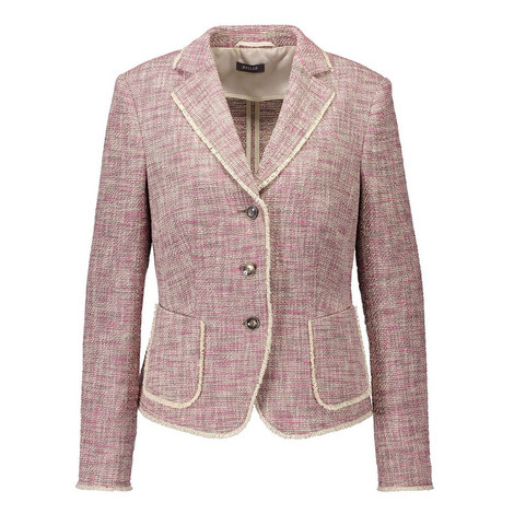 Tailored Tweed Blazer, ${color}