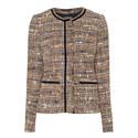 Collarless Tweed Jacket, ${color}
