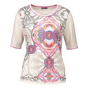 Abstract Print Knit Top, ${color}