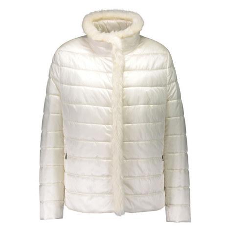 Faux Fur Trim Padded Jacket, ${color}