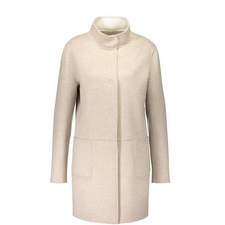 Unlined Funnel Neck Coat