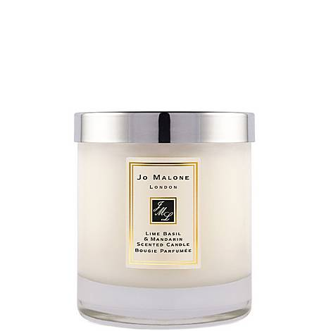 Lime Basil & Mandarin Home Candle 200g, ${color}