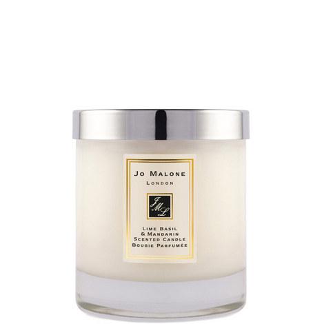 Lime Basil & Mandarin Home Candle 200g, ${color}